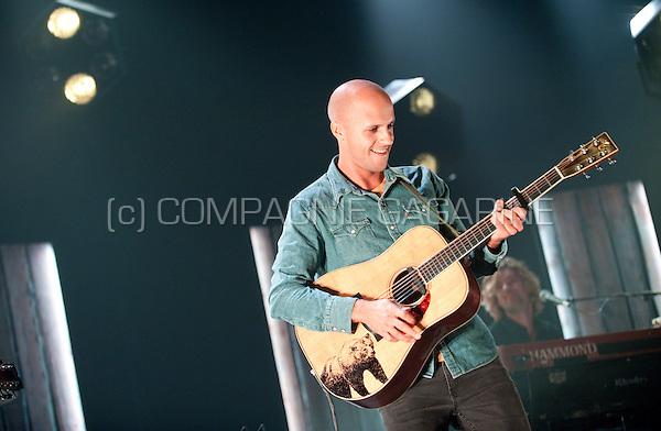Concert of the Belgian singer-songwriter Milow at the Crammerock festival, in Stekene (Belgium, 06/09/2014)