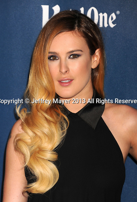 LOS ANGELES, CA- APRIL 20: Actress Rumer Willis arrives at the 24th Annual GLAAD Media Awards at JW Marriott Los Angeles at L.A. LIVE on April 20, 2013 in Los Angeles, California.