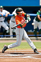 May 31, 2009:  NCAA Division 1 Gainesville Regional:    Miami SS Ryan Jackson (8) during 2nd round regional action at Alfred A. McKethan Stadium on the campus of University of Florida in Gainesville.  Miami Hurricanes eliminated Jacksonville 4-0 and will advance to the finals against Florida............