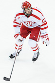 Nikolas Olsson (BU - 13) - The Boston University Terriers defeated the visiting University of Connecticut Huskies 4-2 (EN) on Saturday, October 24, 2015, at Agganis Arena in Boston, Massachusetts.