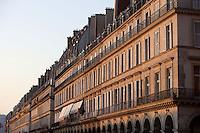 Parisian buildings at sunset, Rivoli street, 1st arrondissement, Paris, France Picture by Manuel Cohen