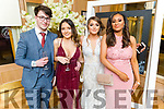 Students from Brookfield College enjoying the evening in Ballygarry House Hotel on Saturday<br /> L to r: Adam Dolan, Cloda Dineen, Aiden Stack and Zara Nolan