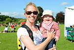 Denise Fay and her 5 month old daughter Isobelle enjoying the fine weather at the country fair at Oldbridge Estate on Saturday. Photo: Andy Spearman. www.newsfile.ie