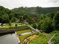 Bodetalsperre bei Wendefurth im Harz, Sachsen-Anhalt, Deutschland, Europa<br /> Bode dam in the Harz Mountains, Saxony-Anhalt, Germany, Europe