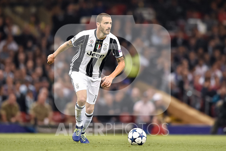 Leonardo Bonucci of Juventus during the UEFA Champions League Final match between Real Madrid and Juventus at the National Stadium of Wales, Cardiff, Wales on 3 June 2017. Photo by Giuseppe Maffia.<br /> <br /> Giuseppe Maffia/UK Sports Pics Ltd/Alterphotos