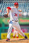 16 August 2017: Washington Nationals pitcher Sammy Solis on the mound against the Los Angeles Angels at Nationals Park in Washington, DC. The Angels defeated the Nationals 3-2 to split their 2-game series. Mandatory Credit: Ed Wolfstein Photo *** RAW (NEF) Image File Available ***