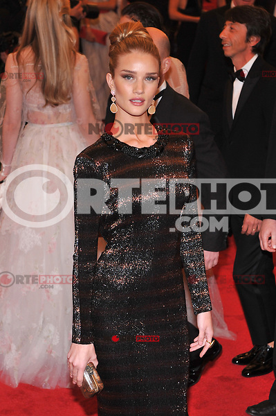 Rosie Huntington-Whiteley at the 'Schiaparelli And Prada: Impossible Conversations' Costume Institute Gala at the Metropolitan Museum of Art on May 7, 2012 in New York City. © mpi03/MediaPunch Inc.