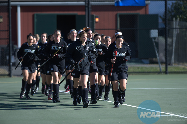22 NOV 2015: Middlebury College takes on Bowdoin College during the Division lll Women's Field Hockey Championship held at the Turf Field on the Washington and Lee University campus in Lexington, Va. Middlebury defeated Bowdoin 1-0 for the national title. Pete Emerson/NCAA Photos