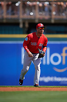 Boston Red Sox second baseman Yoan Moncada (22) during a Spring Training game against the Pittsburgh Pirates on March 9, 2016 at McKechnie Field in Bradenton, Florida.  Boston defeated Pittsburgh 6-2.  (Mike Janes/Four Seam Images)