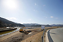 Construction of levees continues near the remains of Okawa Elementary School on March 11, 2016 in Ishinomaki, Miyagi Prefecture, Japan. Exactly 5 years earlier 74 out of the school's 108 students lost their lives as a result of the tsunami on March 11th, 2011. There are plans to rebuild the school but as yet this has not been fixed. The fate of the destroyed buildings is also expected to be decided soon with residents of the town divided as to whether they should be preserved as a memorial or removed. (Photo by Yusuke Nakanishi/AFLO)