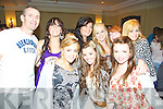 Enjoying the action at The Tralee School of Martial Arts' Fight Night 3 held in The Abbey Gate Hotel on Saturday night were front l/r McKenzie Keane, Barbara Higgins and Rachael Browne, back l/r Mike Allen Oonagh O'Sullivan, Rebecca Short, Clodagh Moore, Shauna Coffey and Caroline Crowley.