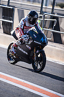 Miguel Oliveira in pit line at pre season winter test IRTA Moto3 & Moto2 at Ricardo Tormo circuit in Valencia (Spain), 11-12-13 February 2014