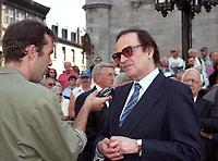 Charles Dutoit<br />  aux Funerailles de Jean Drapeau, le 13 aout 1999<br /> a la Basilique Notre-Dame.<br /> <br /> PHOTO :  Agence Quebec Presse