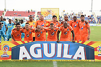 MONTERIA - COLOMBIA, 09-02-2019: Jugadores de Millonarios posan para una foto previo al partido por la fecha 4 de la Liga Águila I 2019 entre Jaguares de Córdoba y Millonarios jugado en el estadio Jaraguay de la ciudad de Montería. / Players of Millonarios pose to a photo prior the match for the date 4 as part Aguila League I 2019 between Jaguares de Cordoba and Millonarios played at Jaraguay stadium in Monteria city. Photo: VizzorImage / Andres Rios / Cont