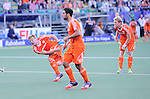 The Hague, Netherlands, June 06: Mink van der Weerden #30 of The Netherlands tries to score a penalty corner during the field hockey group match (Men - Group B) between Germany and The Netherlands on June 6, 2014 during the World Cup 2014 at Kyocera Stadium in The Hague, Netherlands. Final score 0-1 (0-1) (Photo by Dirk Markgraf / www.265-images.com) *** Local caption ***