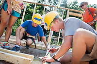 Habitat for Humanity Maroon Edition House - Dawg Daze student volunteers<br />  (photo by Megan Bean / &copy; Mississippi State University)
