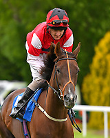 She Believes ridden by Liam Keniry goes down to the start  of The British Stallion Studs EBF Margadale Fillies' Handicap during Evening Racing at Salisbury Racecourse on 11th June 2019