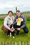 At the Dog Show in aid of the  Irish Guide Dogs at  John Mitchels sports Complex on Monday were Noelle Robb and Michael Lacey with Miley