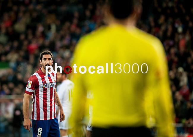 Vicente Calderon. Madrid. Spain. 11.02.2014. Football match between Atletico de Madrid and Real Madrid. Raul Garcia