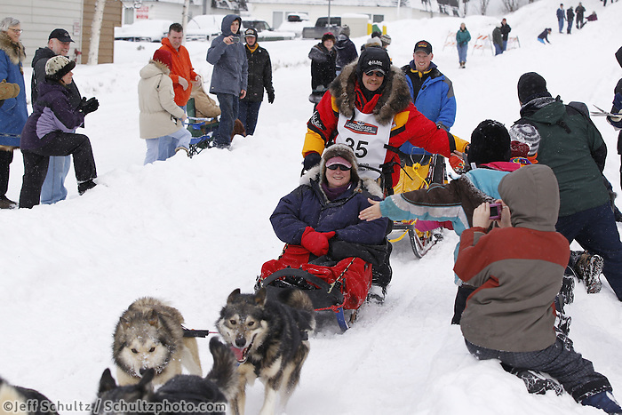 Mitch Seavey Saturday, March 3, 2012  Ceremonial Start of Iditarod 2012 in Anchorage, Alaska.