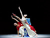 National Ballet of China <br /> The Peony Pavillion <br /> at Sadler's Wells, London, Great Britain <br /> press photocall / rehearsal <br /> 29th November 2016 <br /> <br /> Zhu Yan as Du Liniang <br /> <br /> <br /> Zhang Jian as Flower Goddess <br /> <br /> <br /> <br /> Photograph by Elliott Franks <br /> Image licensed to Elliott Franks Photography Services