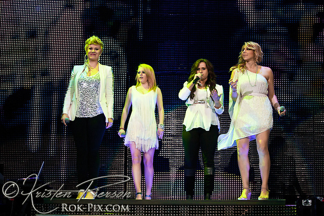 American Idol Live 2012 Tour perform at the Dunkin Donuts Center in Providence, RI on August 26, 2012
