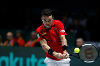 Roberto Bautista Agut of Spain plays a backhand against Roberto Bautista Agut of Spain during Day 2 of the 2019 Davis Cup at La Caja Magica on November 19, 2019 in Madrid, Spain. (ALTERPHOTOS/Manu R.B.)<br /> Tennis Davis Cup 2019 <br /> Coppa Davis<br /> Foto Alterphotos / Insidefoto <br /> ITALY ONLY