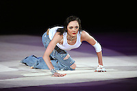 September 13, 2009; Mie, Japan;  Anna Bessonova of Ukraine performs gala exhibition at 2009 World Championships Mie. This was the second of two galas with Anna and featured hip-hop music with freehand dance choreography. Photo by Tom Theobald. .