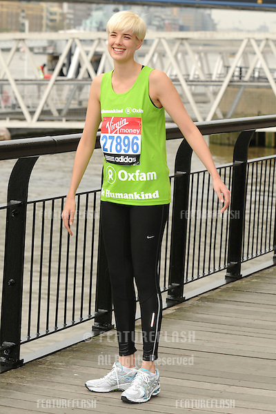 Agyness Deyn will be running in the 2011 Virgin London Marathon, London. 17/04/2011  Picture by: Steve Vas / Featureflash
