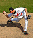 9 March 2007: Baltimore Orioles sidearm pitcher Chad Bradford on the mound against the Washington Nationals at Fort Lauderdale Stadium in Fort Lauderdale, Florida. <br /> <br /> Mandatory Photo Credit: Ed Wolfstein Photo