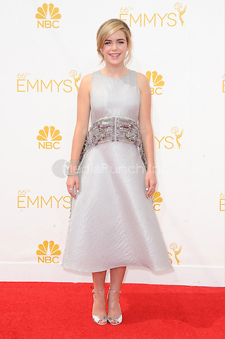 LOS ANGELES, CA - AUGUST 25: Kiernan Shipka arrives at the 66th Primetime Emmy Awards at Nokia Theatre L.A. Live on August 25, 2014 in Los Angeles, California.SKPG/MediaPunch