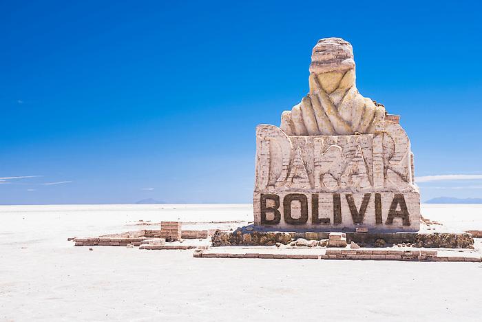Dakar Rally Bolivia monument, Uyuni Salt Flats (Salar de Uyuni), Uyuni, Bolivia