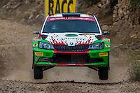 KREMER Armin / WINKLHOFER Pirmin ( SKODA Fabia R5) during the World Rally Car RACC Catalunya Costa Dourada 2016 / Rally Spain, in Catalunya, Spain. October 15, 2016. (ALTERPHOTOS/Rodrigo Jimenez) NORTEPHOTO.COM