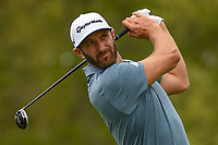 Dustin Johnson (USA) watches his tee shot on 6 during round 4 of the 2019 PGA Championship, Bethpage Black Golf Course, New York, New York,  USA. 5/19/2019.<br /> Picture: Golffile | Ken Murray<br /> <br /> <br /> All photo usage must carry mandatory copyright credit (© Golffile | Ken Murray)