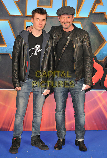 guest and John Simm at the &quot;Guardians of The Galaxy Vol. 2&quot; European gala film premiere, Hammersmith Apollo (Eventim Apollo), Queen Caroline Street, London, England, UK, on Monday 24 April 2017.<br /> CAP/CAN<br /> &copy;CAN/Capital Pictures
