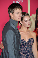 Ansel Elgort &amp; Lily James at the Los Angeles premiere for &quot;Baby Driver&quot; at the Ace Hotel Downtown. <br /> Los Angeles, USA 14 June  2017<br /> Picture: Paul Smith/Featureflash/SilverHub 0208 004 5359 sales@silverhubmedia.com