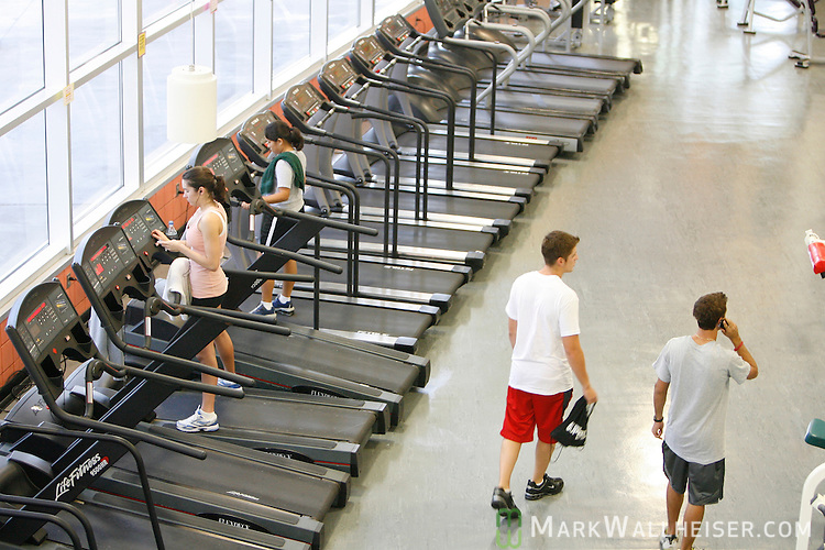 Students work out at the FSU Leach Center on the Florida State University campus.