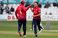 Aaron Beard of Essex celebrates taking the wicket of Ryan Higgins during Essex Eagles vs Gloucestershire, Royal London One-Day Cup Cricket at The Cloudfm County Ground on 7th May 2019