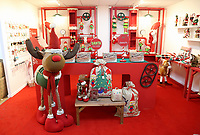 Pictured: Soft Christmas toys in the showroom. Thursday 16 November 2017<br /> Re: Festive company which manufactures tinsel in Cwmbran, Wales, UK.