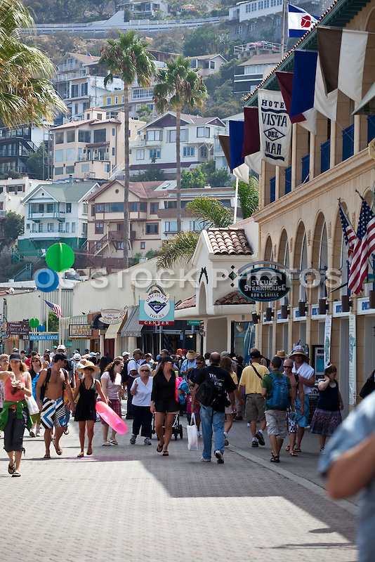 Downtown Avalon on Catalina Island