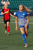 Rochester, NY - Friday May 27, 2016: Boston Breakers midfielder Kristie Mewis (19). The Western New York Flash defeated the Boston Breakers 4-0 during a regular season National Women's Soccer League (NWSL) match at Rochester Rhinos Stadium.