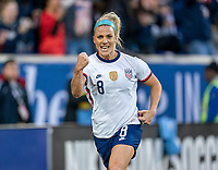 HARRISON, NJ - MARCH 08: Julie Ertz #8 of the United States celebrates during a game between Spain and USWNT at Red Bull Arena on March 08, 2020 in Harrison, New Jersey.