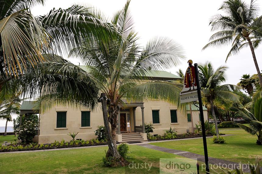 The Hulihe'e Palace, constructed in 1838. Kailua-Kona, Big Island, Hawaii