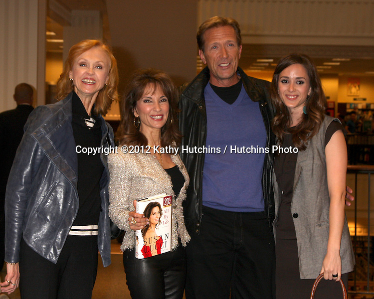 "LOS ANGELES - APR 12:  Jill Larson, Susan Lucci, Walt Willey, Christina Bennett Lind at the Booksigning for Susan Lucci's book ""All My Life"" at Barnes & Noble Bookstore on April 12, 2011 in Glendale, CA"