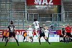 16.03.2019, Stadion Essen, Essen, GER, AFBL, SGS Essen vs TSG 1899 Hoffenheim, DFL REGULATIONS PROHIBIT ANY USE OF PHOTOGRAPHS AS IMAGE SEQUENCES AND/OR QUASI-VIDEO<br /> <br /> im Bild | picture shows:<br /> Kopfballduell zwischen Danica Wu (SGS Essen #3) und Marilena Widmer (FFC Frankfurt #15), <br /> <br /> Foto &copy; nordphoto / Rauch