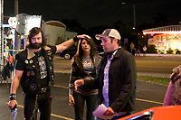 Sex Drive (2008) <br /> Behind the scenes photo of Amanda Crew, Dave Sheridan &amp; Sean Anders  <br /> *Filmstill - Editorial Use Only*<br /> CAP/MFS<br /> Image supplied by Capital Pictures