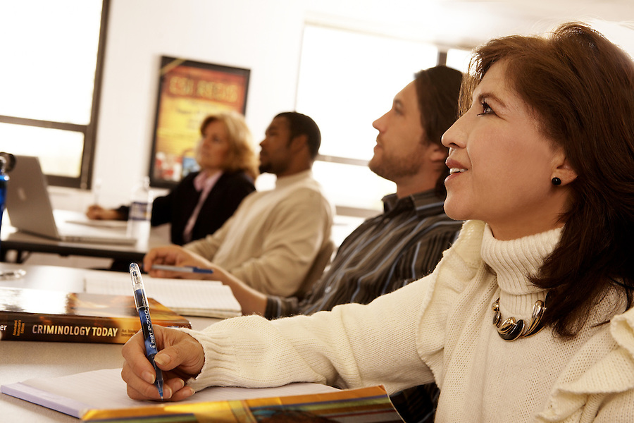 Adult students in classroom setting