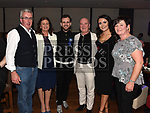 Johnboy O'Sullivan celebrating his 30th birthday in Bru with parents Terry and Antoinette, wife Amy and her parents Denis and Deirdre Duggan. Photo:Colin Bell/pressphotos.ie