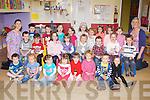 Kids from Bellview Woods Childcare, Fossa, Killarney enjoying animal day on Thursday front row l-r: Eli Anderson, Ali Bowler, Jessica O'Connor, Caoimhe O'Sullivan, Eva Cronin, Cora O'donovan, Mark O'carroll, Emma Dowling. Middle row: Brian O'Shea, Cieran moloney, Ruby Courtney, Lauren Dennehy, Muiris O'Donoghue, Evan Cox, Jaylinn Amer, Leon Bowler, mary O'neill. Back row: Eoin McIntyre, Dáithi O'Sullivan, Blaithín O'Brien, Orlaith Ní Fhloinn, Faye O'carroll, Caoimhe O'Callaghan, Vakere Petraityhe, Lily Courtney, Ciara Leane and Siobhain Carmody.