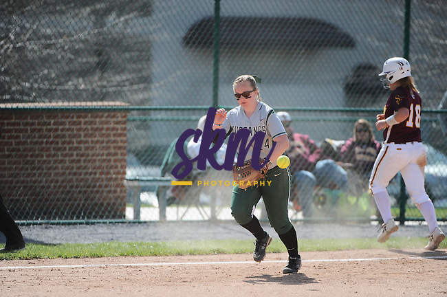 Stevenson softball hosted Salisbury in a double header at Weinberg-Fine Stadium in Owings Mills on Wednesday afternoon.